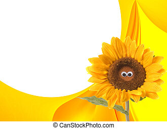 Happy summer sunflower background