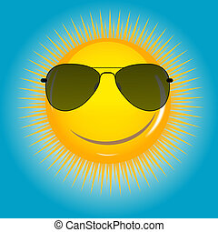 Happy Sun  background vector illustration