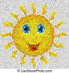 Happy sun glass mosaic generated texture