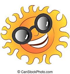 Happy Sun Wearing Sunglasses
