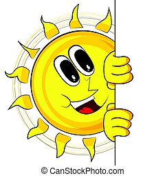 Happy Sun With Banner.