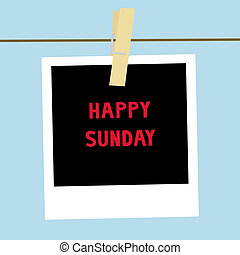 Happy Sunday letters on the card.