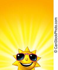 Happy Sunrise Sun Character - Happy sunrise sun character...