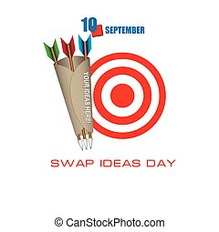 The calendar event is celebrated in September - Swap Ideas Day