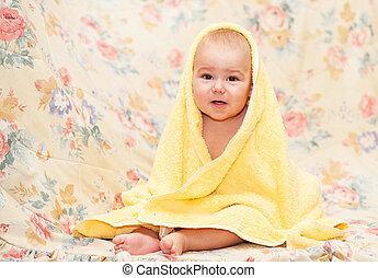 sweet baby in towel