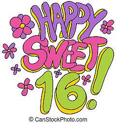 Happy Sweet Sixteen - An image of a happy sweet sixteen...