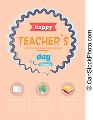 Happy Teachers Day Banner Vector Illustration - Happy...