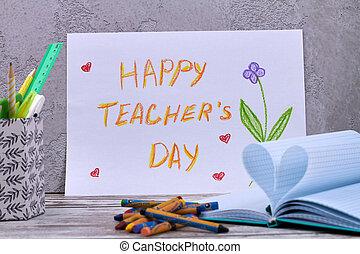 Happy teacher's day concept.
