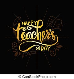 Happy teacher's day greeting card.