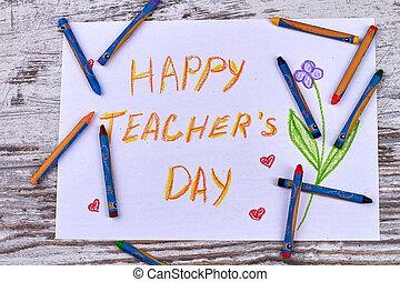 Happy teacher's day poster.