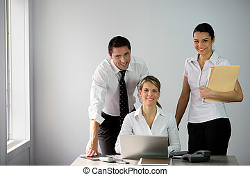 Happy team in office
