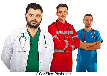 Happy team of doctors