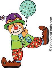Happy teddy bear clown