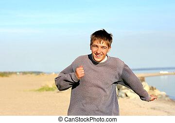 teenager running