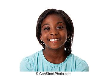 Happy teenager smiling