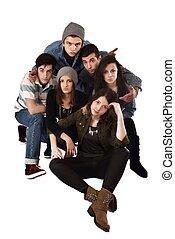 happy teens group