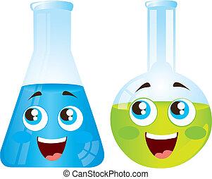 test tubes cartoons - happy test tubes cartoons isolated...