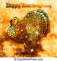 Happy Thanksgiving - An abstract illustration on...