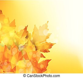 Happy Thanksgiving. Autumn background with geometrical leaves