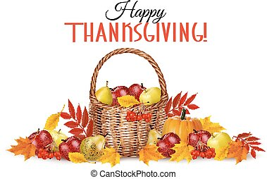 Happy Thanksgiving Background. Vector.