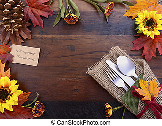 Happy Thanksgiving background with decorated borders.