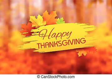 Happy Thanksgiving background with maple leaves