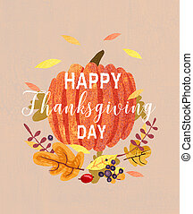 Happy Thanksgiving card design,