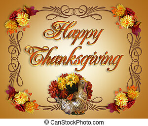 Happy Thanksgiving Card - Image and Illustration composition...
