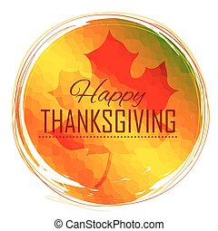 Happy Thanksgiving celebration background with maple leaf