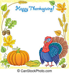 Happy Thanksgiving. Contains transparent objects.EPS 10.