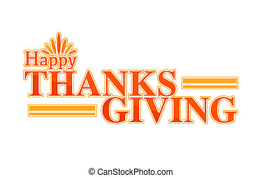 Happy thanksgiving color text sign illustration design...