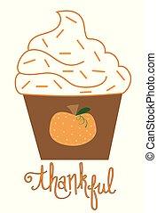 Happy Thanksgiving Cupcake