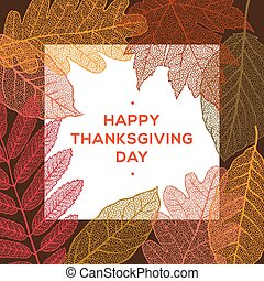 Happy thanksgiving day, autumn holiday background