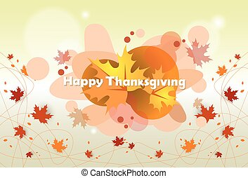 Happy Thanksgiving Day Autumn Traditional Holiday Banner...