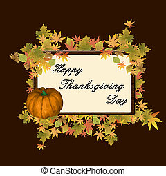 Happy thanksgiving day background - Vector illustration of...