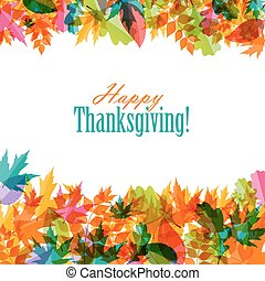 Happy Thanksgiving Day Background with Shiny Autumn Natural...