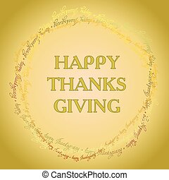 happy Thanksgiving day card - Happy Thanksgiving day circle...
