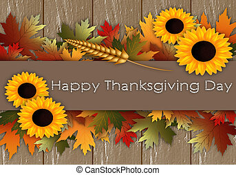 Happy Thanksgiving Day - Thanksgiving day postcard
