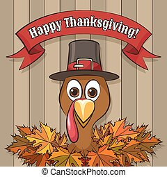 Happy Thanksgiving Day Emblem