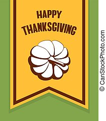 Happy Thanksgiving Day Flag
