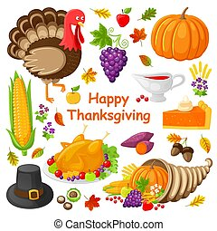Happy Thanksgiving Day Poster Vector Illustration