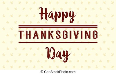 Happy Thanksgiving day style background