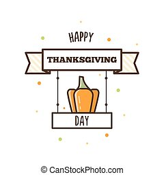 Happy Thanksgiving Day. Vector illustration.