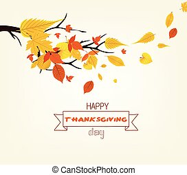 Happy Thanksgiving Day. Vector Illustration of an Autumn Design