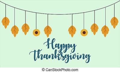 Happy Thanksgiving Day With Ornament Animation