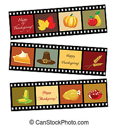 Happy Thanksgiving film strip - Happy Thanksgiving card...