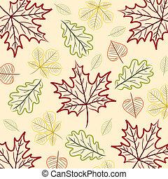 Happy Thanksgiving! - Hand drawn leaf Thanksgiving/Autumn...