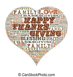 Happy Thanksgiving Heart shape