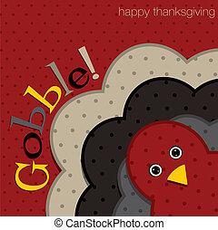 Happy Thanksgiving! - Hiding turkey spotty Thanksgiving card...