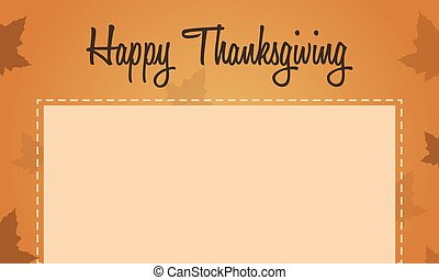 Happy Thanksgiving maple leaf background
